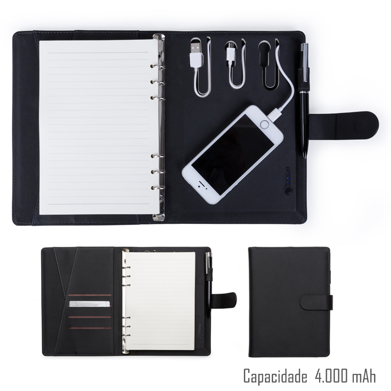 Caderno Power Bank 200