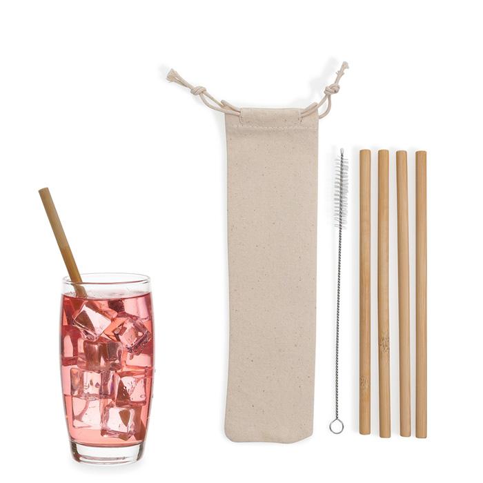 Kit Canudo Bambú B072